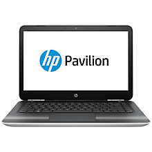 "Buy HP Pavilion 14-al015na Laptop, Intel Core i3, 8GB RAM, 1TB, 14"", Natural Silver Online at johnlewis.com"