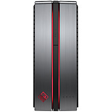Buy HP OMEN 870-010na Desktop PC, Intel Core i5, 8GB RAM, 2TB + 128GB SSD, Gun Metal Online at johnlewis.com