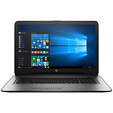 "Buy HP 17-x Laptop, Intel Core i3, 8GB RAM, 1TB, 17.3"" Online at johnlewis.com"