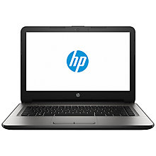 "Buy HP 14-an008na Laptop, AMD A8, 8GB RAM, 1TB, 14"", Turbo Silver Online at johnlewis.com"