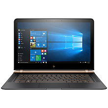 "Buy HP Spectre 13-v001na Laptop, Intel Core i7, 8GB RAM, 512GB SSD, 13.3"", Full HD, Ash Luxe Copper Online at johnlewis.com"
