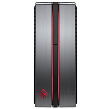 Buy HP OMEN 870-040na Desktop PC, Intel Core i7, 16GB RAM, 2TB + 256GB SSD, Gun Metal Online at johnlewis.com