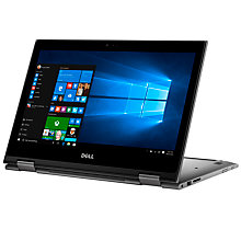 "Buy Dell Inspiron 13 5000 Series Convertible Laptop, Intel Core i3, 4GB RAM, 500GB, 13.6"", Silver and Microsoft Office Home and Business 2016, 1 PC Online at johnlewis.com"