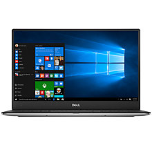 "Buy Dell XPS 15 Laptop, Intel Core i7, 16GB RAM, 512GB SSD, 15.6"" Ultra HD (4K), Silver Online at johnlewis.com"