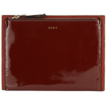 Buy DKNY Smooth Leather Small Clutch Bag, Scarlet Online at johnlewis.com