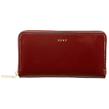 Buy DKNY Patent Leather With Calf Trim Zip Around Purse Online at johnlewis.com