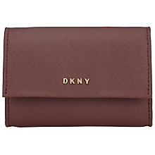 Buy DKNY Bryant Park Saffiano Leather Card Case, Oxblood Online at johnlewis.com