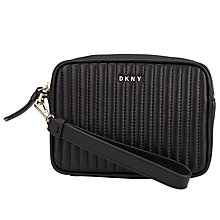 Buy DKNY Gansevoort Leather Wristlet Purse, Black Online at johnlewis.com