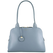Buy Radley Millbank Leather Medium Tote Bag, Blue Online at johnlewis.com
