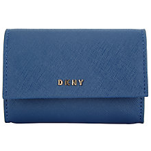 Buy DKNY Bryant Park Saffiano Leather Card Case, Ink Online at johnlewis.com