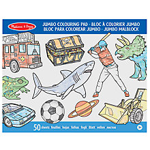 Buy Melissa & Doug Jumbo Colouring Pad, Blue Online at johnlewis.com