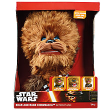 Buy Star Wars Roar And Rage Talking Chewbacca Plush Soft Toy Online at johnlewis.com