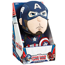 Buy Marvel Avengers Captain America Civil War Deluxe Talking Plush Toy Online at johnlewis.com