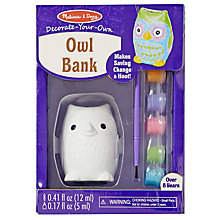 Buy Melissa & Doug Decorate Your Own Owl Bank Online at johnlewis.com