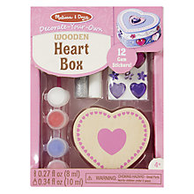 Buy Melissa & Doug Decorate-Your-Own Wooden Heart Chest Online at johnlewis.com