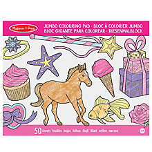 Buy Melissa & Doug Jumbo Colouring Pad, Pink Online at johnlewis.com