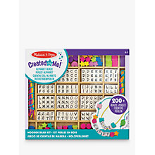 Buy Melissa & Doug Wooden Stringing Beads In A Box Online at johnlewis.com