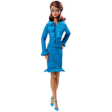 Buy Barbie Fashion Model Collection Blue Suit Doll Online at johnlewis.com