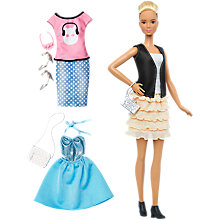 Buy Barbie Fashionistas Leather and Ruffles Doll Online at johnlewis.com