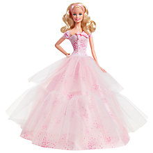 Buy Barbie 2016 Birthday Wishes Doll Online at johnlewis.com