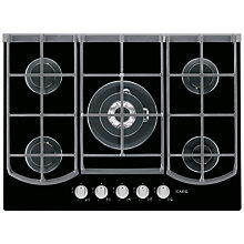 Buy AEG HG753430NB Gas Hob Online at johnlewis.com