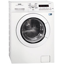 Buy AEG L75670NWD Freestanding Washer Dryer, 7kg Wash/4kg Dry Load, A Energy Rating, 1600rpm Spin, White Online at johnlewis.com