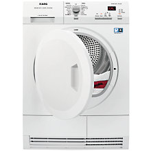 Buy AEG T65771IH1 Freestanding Condenser Heat Pump Tumble Dryer, 7kg Load, A++ Energy Rating, White Online at johnlewis.com