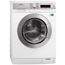 Buy AEG L87695NWD Freestanding Washer Dryer, 9kg Wash/6kg Dry Load, A Energy Rating, 1600rpm Spin, White Online at johnlewis.com