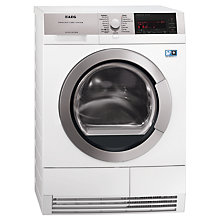 Buy AEG T97689IH Condenser Tumble Dryer, 8kg Load, A+++ Energy Rating, White Online at johnlewis.com