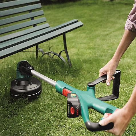 buy robert bosch art 26 18 li cordless grass trimmer john lewis. Black Bedroom Furniture Sets. Home Design Ideas