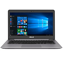 "Buy ASUS ZenBook UX310UA Laptop, Intel Core i3, 4GB RAM, 128GB SSD, 13.3"" Full HD, Grey Online at johnlewis.com"