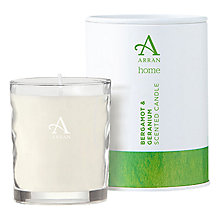 Buy Arran Aromatics Bergamot and Geranium Scented Candle, Small Online at johnlewis.com