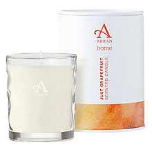 Buy Arran Aromatics Just Grapefruit Scented Candle, Small Online at johnlewis.com