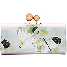 Buy Ted Baker Quinby Leather Matinee Purse, Ash Online at johnlewis.com