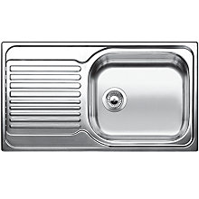 Buy Blanco Tipo XL 6 S Single Bowl Inset Sink, Stainless Steel Online at johnlewis.com