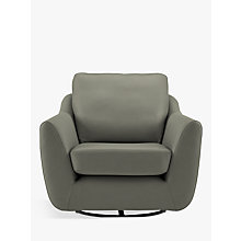 Buy G Plan Vintage The Sixty Seven Leather Swivel Chair Online at johnlewis.com