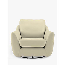 Buy G Plan Vintage The Sixty Seven Leather Swivel Armchair, Capri Chalk Online at johnlewis.com