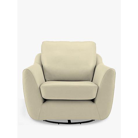 Buy G Plan Vintage The Sixty Seven Leather Swivel Armchair Capri Chalk Joh