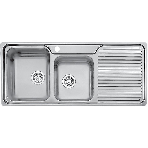 Blanco Classic 8s Double Bowl Sink : Blanco Classic 8S Double Left Hand Bowl Inset Kitchen Sink, Stainless ...
