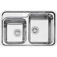 Buy Blanco Classic 8-IF Double Right Hand Bowl Inset Sink, Stainless Steel Online at johnlewis.com