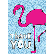 Buy Dear Henry Flamingo Thank You Notecards, Pack of 8 Online at johnlewis.com