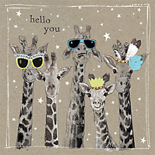 Buy Hammond Gower Hello You Giraffe Cards, Pack of 8 Online at johnlewis.com