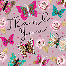 Buy Hammond Gower Butterfly Thank You Cards, Pack of 8 Online at johnlewis.com