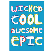 Buy Dear Henry Wicked Cool Card, pack of 10 Online at johnlewis.com