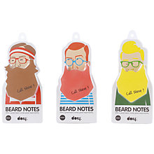Buy DOIY Beard Post It Notes Online at johnlewis.com