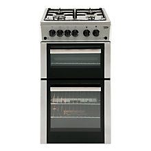 Buy Beko BDG582S Freestanding Gas Cooker, Silver Online at johnlewis.com