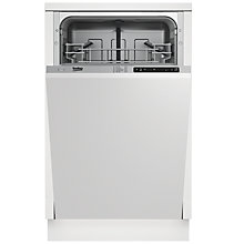 Buy Beko DIS15010 Fully Integrated Slimline Dishwasher Online at johnlewis.com