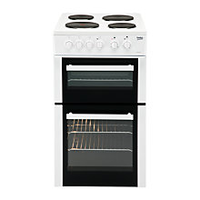 Buy Beko BD532AW Freestanding Electric Cooker, White Online at johnlewis.com