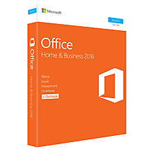 Buy Microsoft Office Home and Business 2016, 1 PC, One-Off Payment Online at johnlewis.com