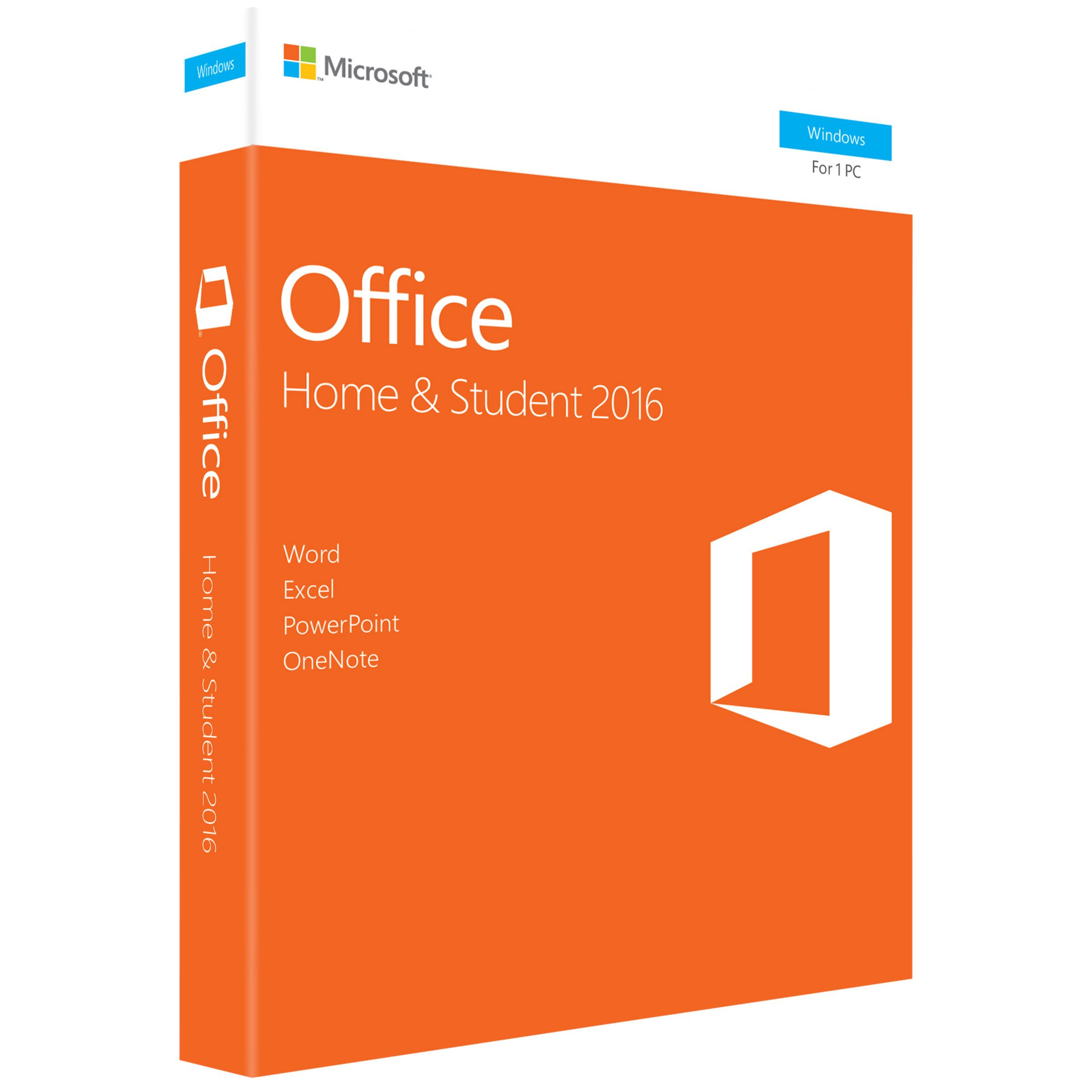 Microsoft Microsoft Office Home and Student 2016, 1 PC, One-Off Payment